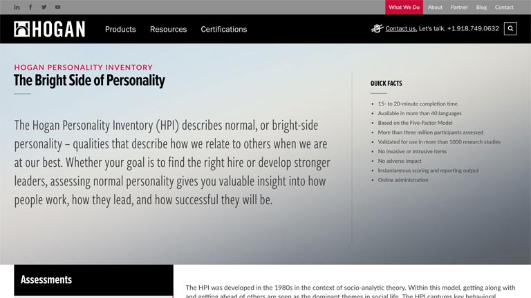Hogan Personality Inventory